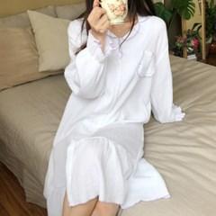 이중겹 거즈면 100% 미뇽 원피스 잠옷 파자마