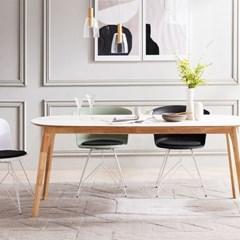 채우리 스티밍 HPM 타원형 6인 식탁 테이블