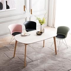 채우리 스티밍 HPM 타원형 4인 식탁 테이블