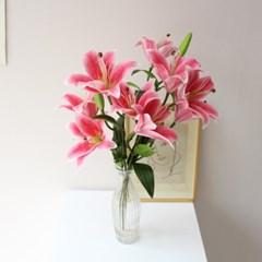 백합의 여왕 카사블랑카 조화꽃장식(2color)