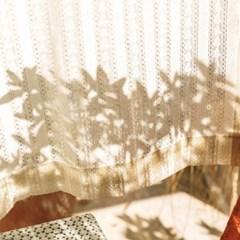 [할머니를 위한 기부]꽃줄 레이스 커튼