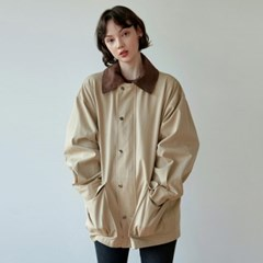 CORD OVER SAFARI JACKET_LIGHT BEIGE