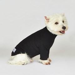 강아지옷 플로트 스탠다드 하프넥티셔츠 블랙_(898215)
