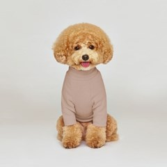 강아지옷 플로트 스탠다드 하프넥티셔츠 웜핑크_(898211)