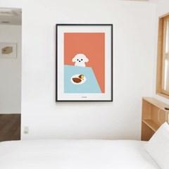 솜뭉치와 고구마 강아지 M 유니크 인테리어 디자인 포스터