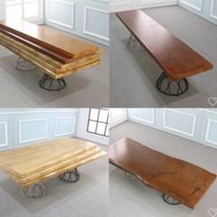 우드슬랩 DIY상판목재 원목 테이블 직선형_(246854)