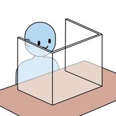 아크릴 투명 책상 가림막 칸막이 식당 식탁 학원 교실 비대면 파티션