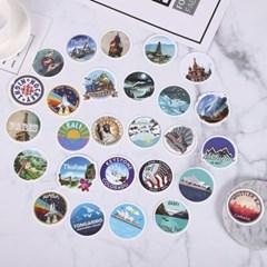 트래블 캠핑 노트북 여행가방 데코스티커 - 세계여행B - 50매