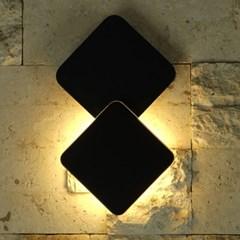 LED 쿠페 사각 벽등(3000K)