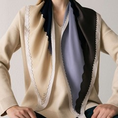 elfo silk scarf - navy