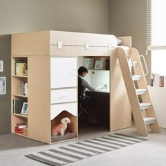 하우스 애견집 1인실 가정용 독서실책상 매트포함_(12108129)