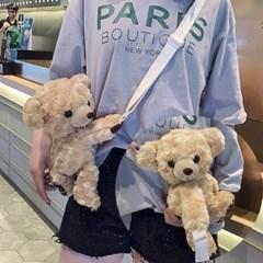 곰돌이 귀여운 테디베어 곰인형 가방 크로스백_(2461322)