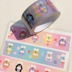 인어토끼 박스테이프