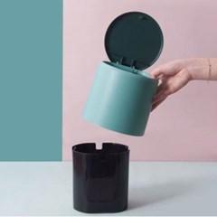 미니멀 원터치 휴지통 1개(색상랜덤)
