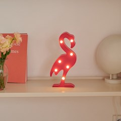 LED 플라밍고 전구 무드등 인테리어 조명_(1627849)