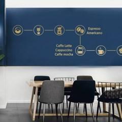 카페 인테리어용 유리벽 스티커_(251778)