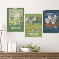 [1+1]인테리어 명화 그림 액자 10종 패브릭 포스터 원룸 꾸미기