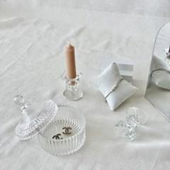 빈티지 유리촛대 글라스 캔들홀더 테이퍼양초용 A type