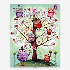 부엉이 나무 DIY 보석십자수 십자수 비즈세트_(2462524)