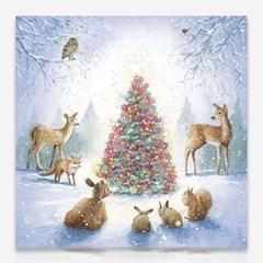 숲속의 크리스마스 트리 DIY 보석십자수 십자수 비즈세_(2462514)