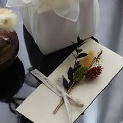 프리저브드꽃 명절상품권돈봉투(베이지)