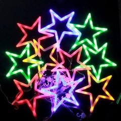 150구 투명선 LED 화이트별 칼라전구(2.7M) (점멸有) (연결가능)