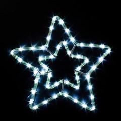 LED 논네온 이중별 백색(55CM)(점멸無)