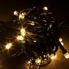 50구 녹색선 LED 웜색전구(5M) (점멸有) (90cm트리용)