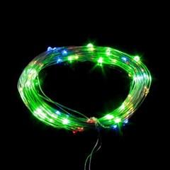장식전구/100구 드럼 투명선 LED 칼라 트리전구(10M)