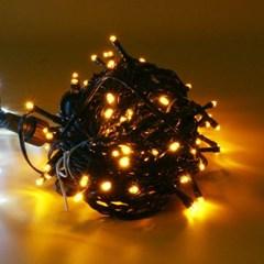 [은하수] 50구 녹색선 LED 웜색 지니전구(5M) (점멸有) (연결가능) (
