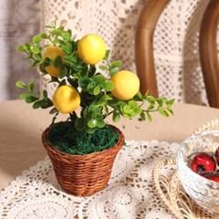 미니 레몬 화분 조화_(2032006)