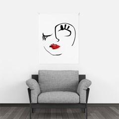 패브릭 포스터 드로잉 거실 그림 인테리어 액자 페이스A