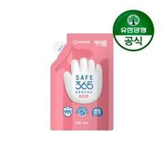 [유한양행]해피홈 SAFE365 핸드워시 리필 200ml 핑크포레향 1개