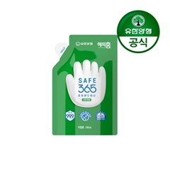 [유한양행]해피홈 SAFE365 핸드워시 파우치형 리필 200m_(2479069)