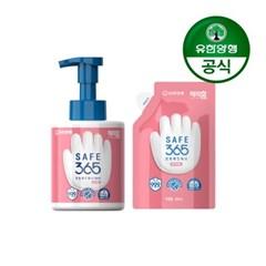 [유한양행]해피홈 핸드워시 용기 350ml+리필 200ml 핑크포레향 1개
