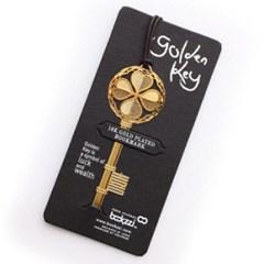 황금열쇠 - 반짝반짝 18k금도금 북마크