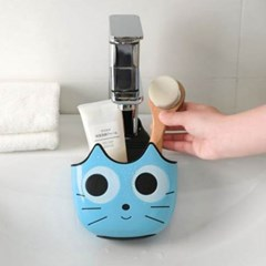 주방 싱크대 고양이 수세미 홀더 1개(색상랜덤)