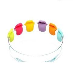 실리콘 멀티 컵마커 6개1세트(색상랜덤)