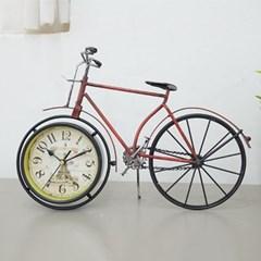 빈티지 자전거 탁상시계 (레드 그린)