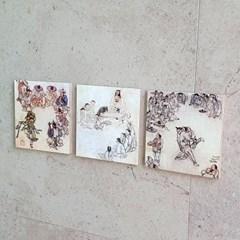 [BooKiss]명화뜨레스 김홍도-풍속화 한국화 그림액자