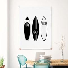 패브릭 포스터 거실 그림 여름 인테리어 액자 서핑보드
