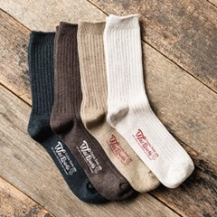 COTTON RIB SOCKS SET (ivory/beige/brown/charcoal)