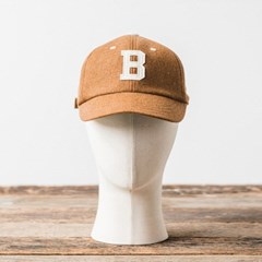 MELTON WOOL BASEBALL CAP (beige)