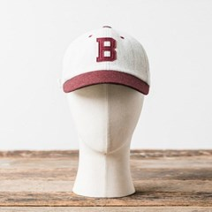 MELTON WOOL BASEBALL CAP (burgundy)