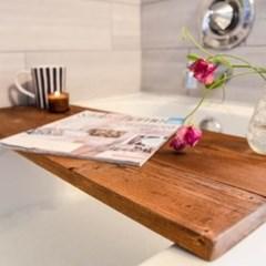 반신욕 원목 방수 욕조 선반 테이블_(251786)