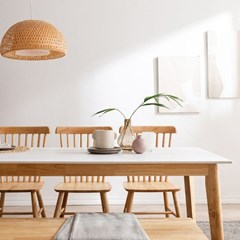 모딜리아니 세라믹 원목 6인 식탁 테이블