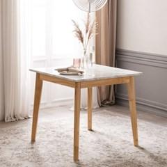 모딜리아니 대리석 원목 2인 식탁 테이블