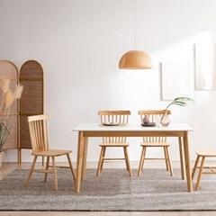 모딜리아니 M88 세라믹 원목 4인 식탁세트(의자)
