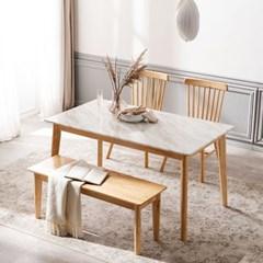 모딜리아니 M88 대리석 원목 4인 식탁세트(의자+벤치)