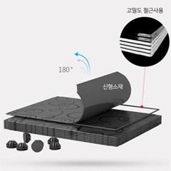 하이브리드 DIY 다목적 4단 수납장 선반 신발장 장남감정리함